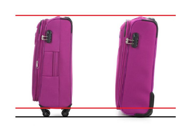 Porównanie walizki na 2 i 4 kółkach
